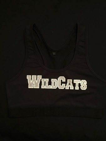 sports top med WildCats i glitter